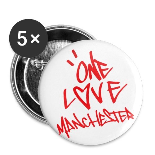 One love Manchester - Buttons small 1''/25 mm (5-pack)