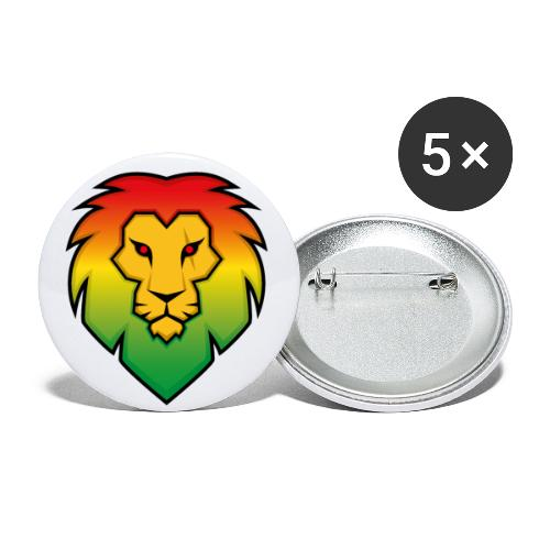 Ragga Lion - Buttons small 1''/25 mm (5-pack)