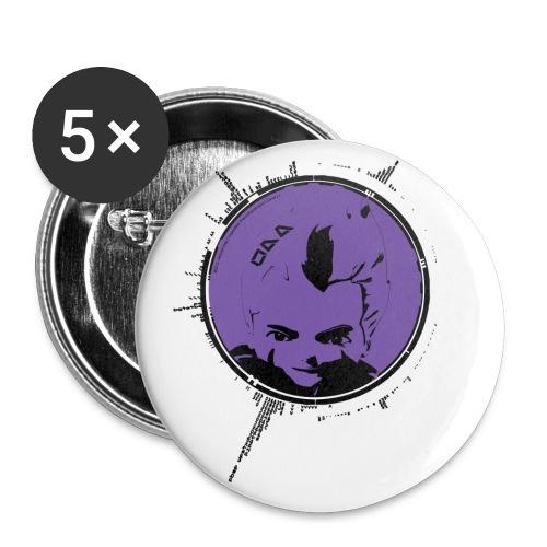 no name - Lot de 5 petits badges (25 mm)