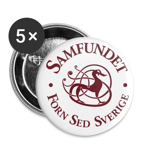 Runhunden rund stor - Små knappar 25 mm (5-pack)