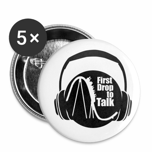 First Drop to Talk Logo - Buttons klein 25 mm (5er Pack)