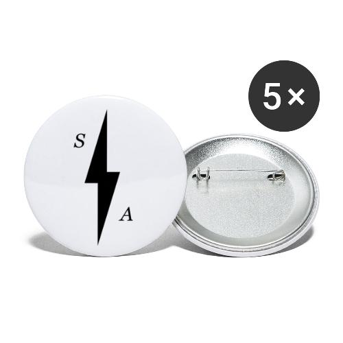 Black SA Bolt - Buttons small 1''/25 mm (5-pack)