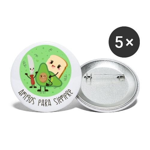 Amigos para siempre - Paquete de 5 chapas pequeñas (25 mm)