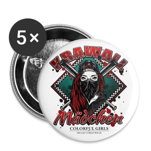Krawallmädchen - Buttons klein 25 mm (5er Pack)