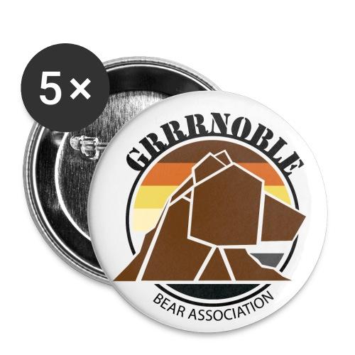 Logo 1 GRRRNOBLE BEAR ASSOCIATION - Lot de 5 petits badges (25 mm)
