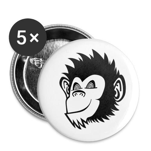 klickaffen logo ohne typo transparent png - Buttons klein 25 mm (5er Pack)