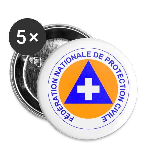 protectioncivile - Lot de 5 petits badges (25 mm)