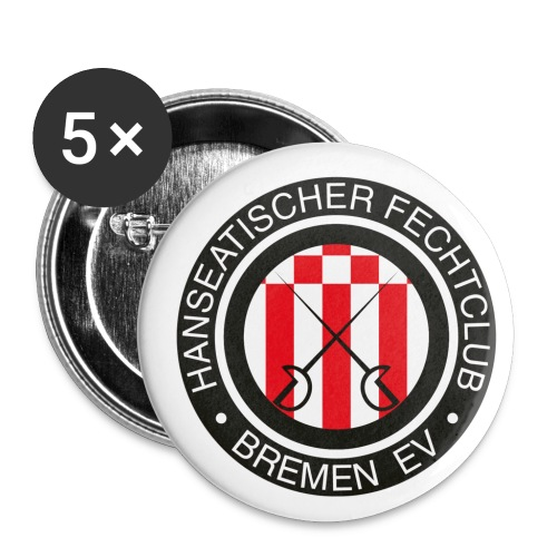hfcb logo 900 - Buttons klein 25 mm (5er Pack)