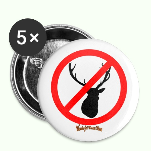No Reindeer alllowed - Buttons klein 25 mm (5er Pack)