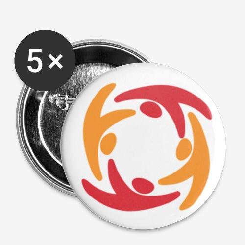 Logo - Buttons klein 25 mm (5er Pack)