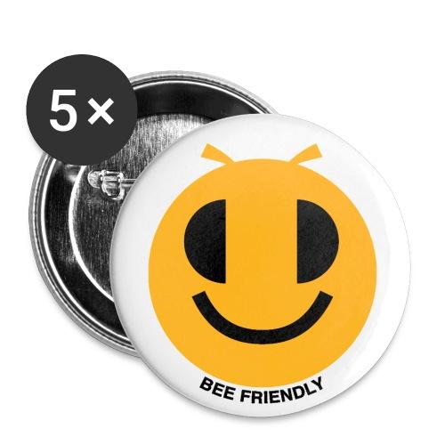 API_BEEFRIENDLY_JAUNOIR_N - Lot de 5 petits badges (25 mm)