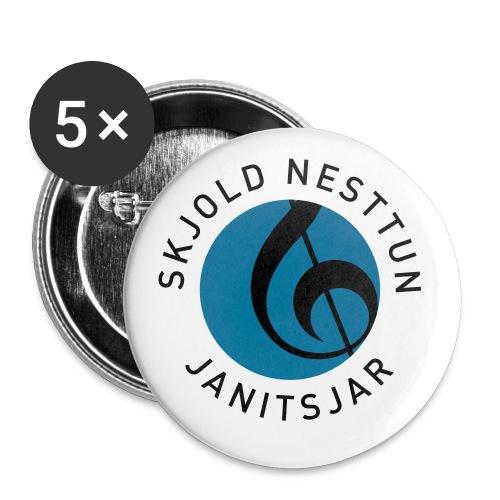 NYNYSNJ MVJ LOGO SORT TE - Liten pin 25 mm (5-er pakke)