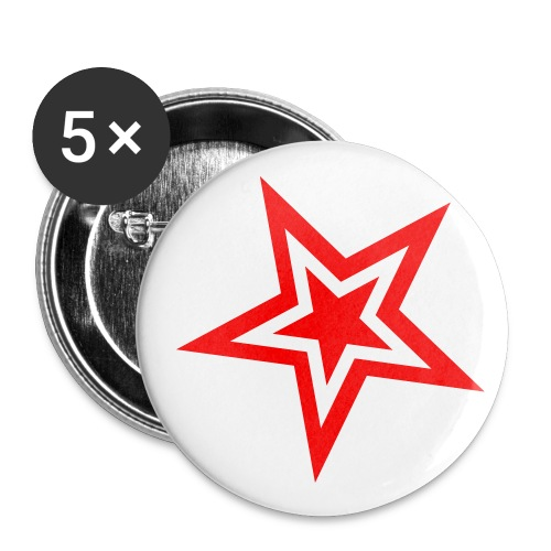 stern 2 farbig - Buttons klein 25 mm (5er Pack)