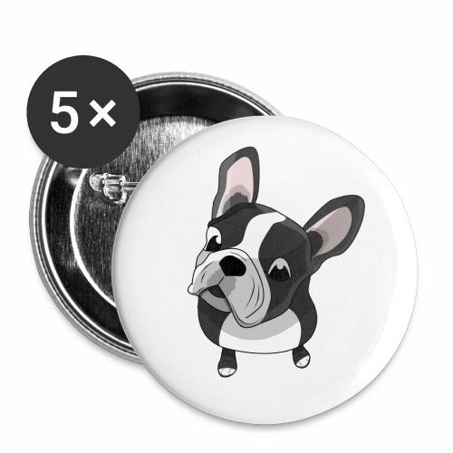 Bouledogue français - Lot de 5 petits badges (25 mm)