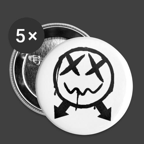 logoschwarz - Buttons klein 25 mm (5er Pack)