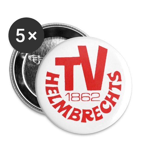 logo rot png - Buttons klein 25 mm (5er Pack)