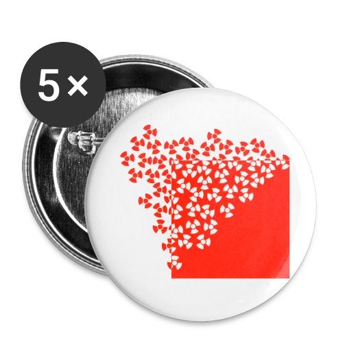Radioaktivität - Buttons klein 25 mm (5er Pack)