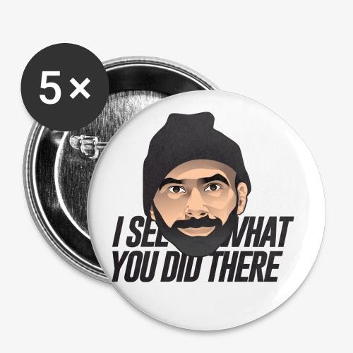 DJ Flipout Black - Lot de 5 petits badges (25 mm)