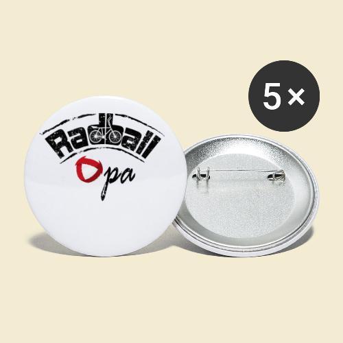 Radball | Opa - Buttons klein 25 mm (5er Pack)