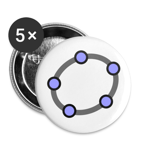 GeoGebra Ellipse - Buttons small 1''/25 mm (5-pack)
