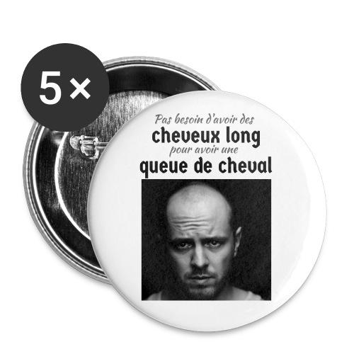 Humour Chauve ! - Lot de 5 petits badges (25 mm)
