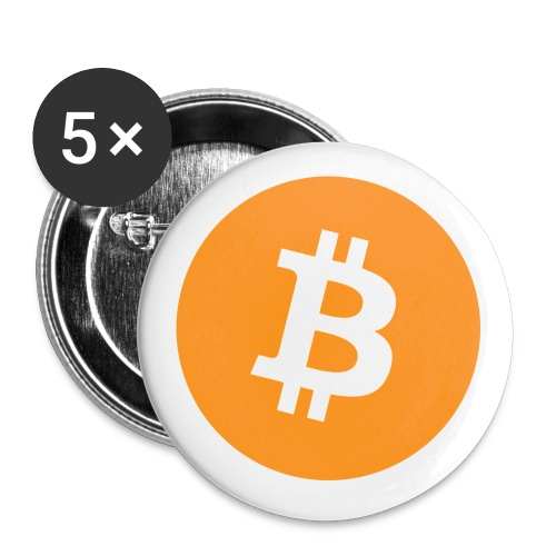 Bitcoin - Buttons small 1''/25 mm (5-pack)