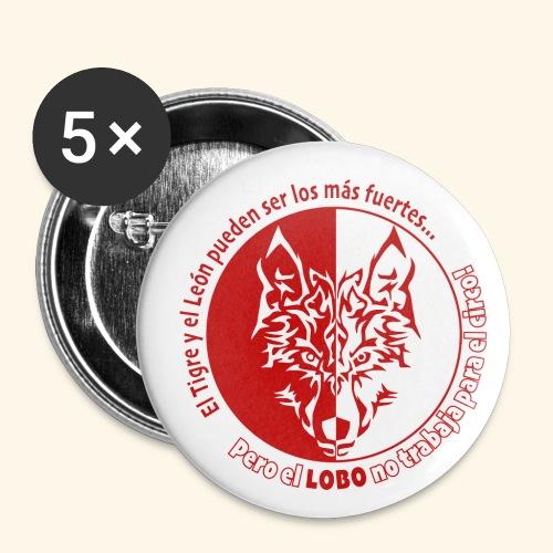 LOBO - Paquete de 5 chapas pequeñas (25 mm)