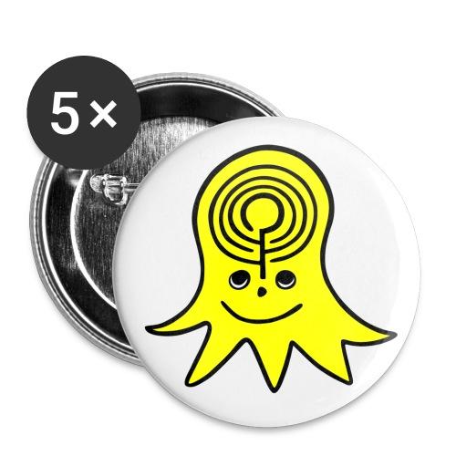 logo2012 gelb - Buttons klein 25 mm (5er Pack)