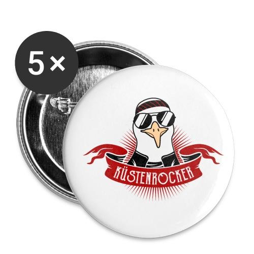 Küstenrocker - Buttons klein 25 mm (5er Pack)