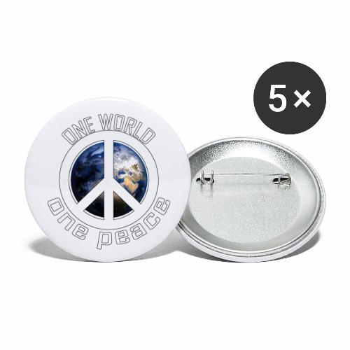 One World, One Peace - Buttons klein 25 mm (5er Pack)