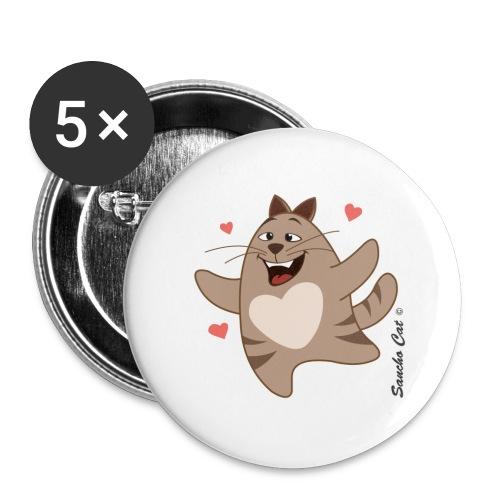 Verliebt - Sancho Cat © - Buttons klein 25 mm (5er Pack)