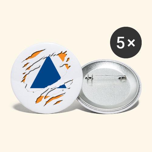 protection civile - Lot de 5 petits badges (25 mm)