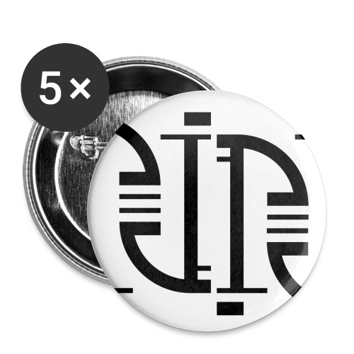 Motif en J - Lot de 5 petits badges (25 mm)