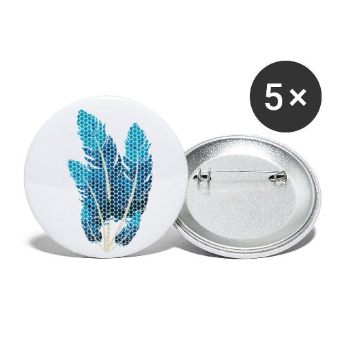 Dots Federn - Buttons klein 25 mm (5er Pack)