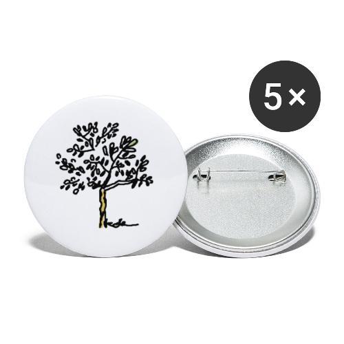 Jeune olivier - Lot de 5 petits badges (25 mm)