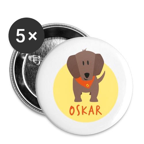 Dackel Oskar von Dachshausen - Buttons klein 25 mm (5er Pack)