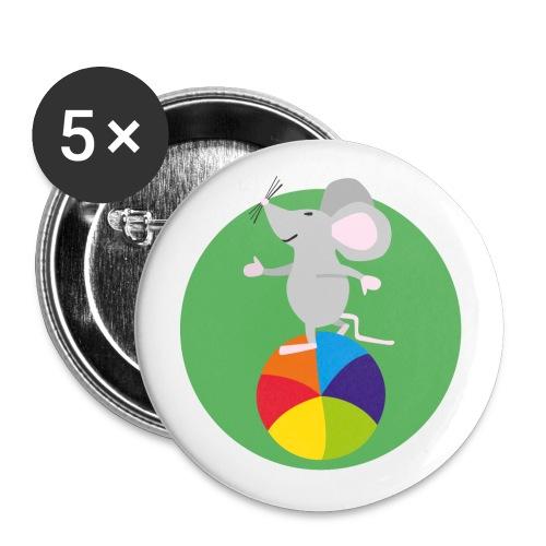 Maus Fridolin Fabelhaft - Buttons klein 25 mm (5er Pack)