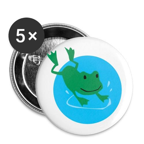 Frosch - Buttons klein 25 mm (5er Pack)
