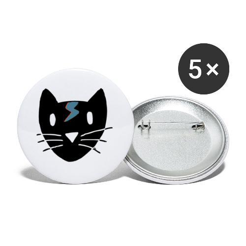 Chat Bowie - Lot de 5 petits badges (25 mm)