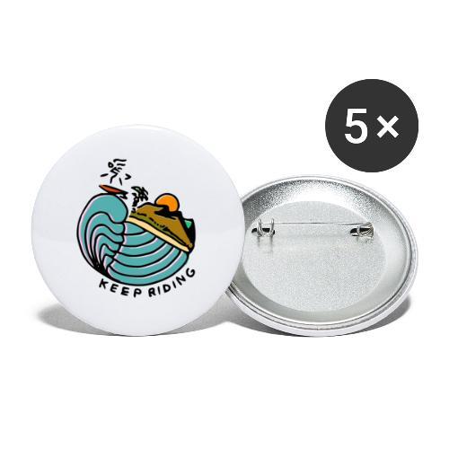 Surfeur au Couchant - Lot de 5 petits badges (25 mm)