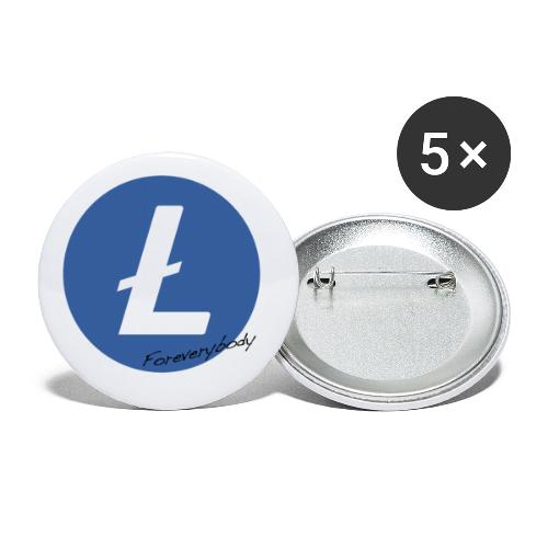 Litecoin Everybody rond - Lot de 5 petits badges (25 mm)