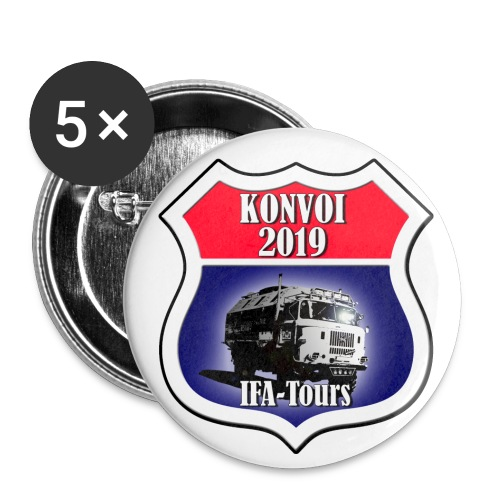 IFA Konvoi - Buttons klein 25 mm (5er Pack)