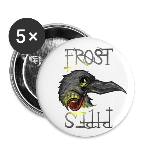Frost Pipes Crow - Buttons small 1''/25 mm (5-pack)