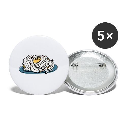 Pâtes Carbonara - Lot de 5 petits badges (25 mm)