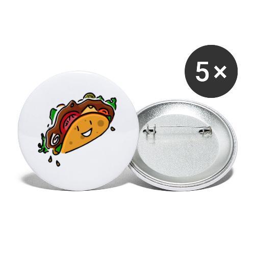 Taco Joyeux - Lot de 5 petits badges (25 mm)