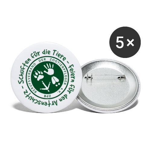 Schuften für die Tiere, Feiern für den Artenschutz - Buttons klein 25 mm (5er Pack)