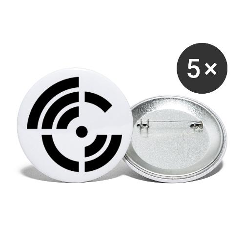 electroradio.fm logo - Buttons small 1''/25 mm (5-pack)