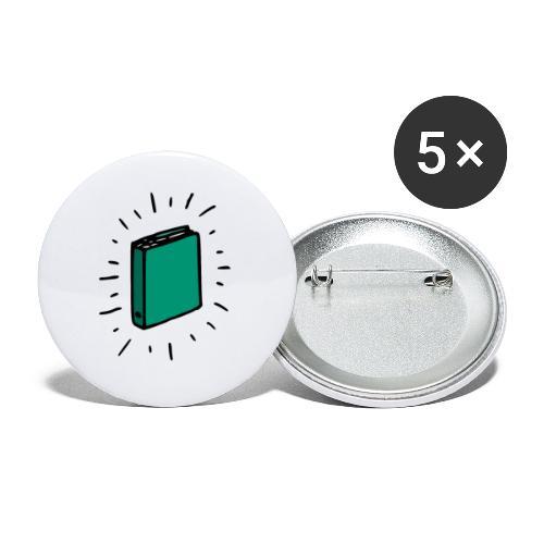 Livre - Lot de 5 petits badges (25 mm)
