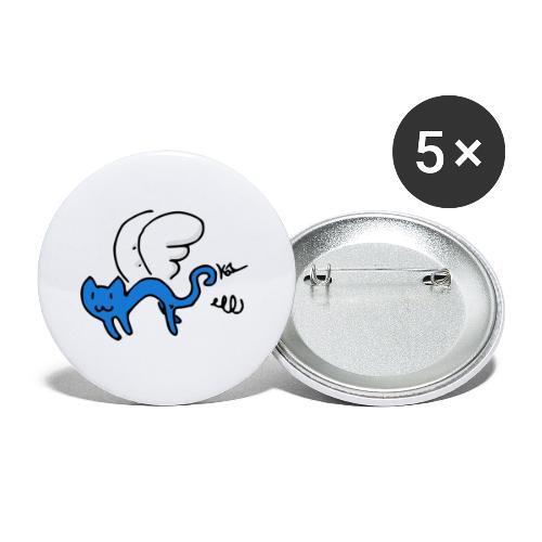 Fliegendes Kätzchen - Buttons klein 25 mm (5er Pack)