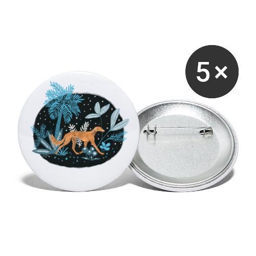 Saluki im Tropenwald - Buttons klein 25 mm (5er Pack)